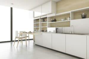 3d rendering scandinavian kitchen with minimal style