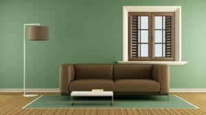 Modern green living room